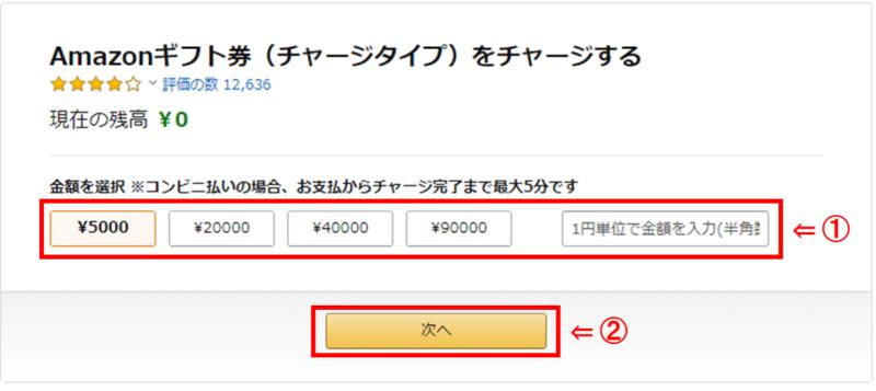 Amazonギフト券の初回チャージで1000円分のポイントをお得にゲットするキャンペーン